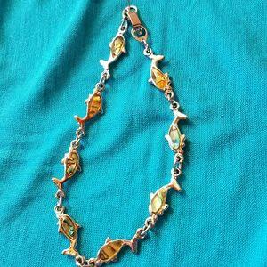 Jewelry - Adorable silver tone dolphin bracelet